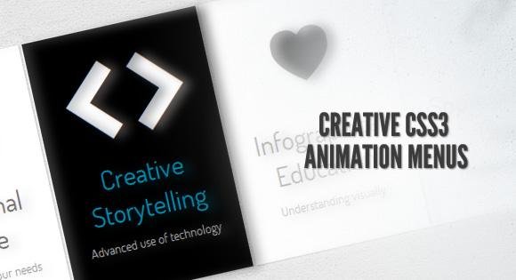 CSS3 Animation Menus