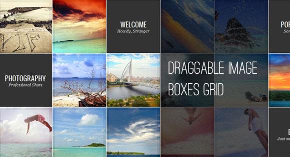 Draggable Image Boxes Grid
