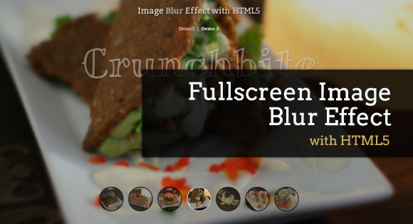 Fullscreen Image Blur Effect with HTML5