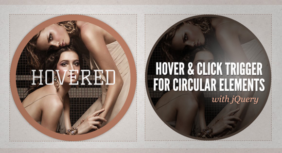 Hover and Click Trigger for Circular Elements with jQuery