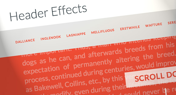 Header Effects